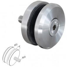 Punkthalter Ø 52 mm für Vierkantrohr Edelstahl V2A