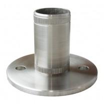 Einschlag - Bodenflansch, für Rohr Ø 42,4x2,0 mm Edelstahl V2A
