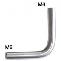 Handlaufträgerstütze mit 90° Winkel und Ø 12 mm Edelstahl V2A