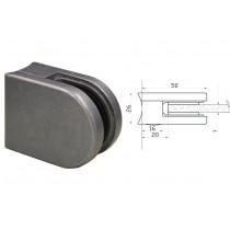 Glasklemme Modell 00 für Rundrohr Ø 33,7 mm Zinkdruckguß