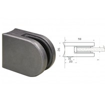 Glasklemme Modell 00 für Rundrohr Ø 42,4 mm Zinkdruckguß