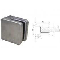 Glasklemme Modell 01 für Vierkantrohr Zinkdruckguß