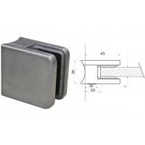 Glasklemme Modell 01 für Rundrohr Ø 42,4 mm Zinkdruckguß