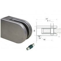 Glasklemme Modell 02 für Vierkantrohr Zinkdruckguß