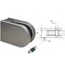 Glasklemme Modell 02 für Rundrohr Ø 48,3 mm Zinkdruckguß