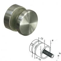 Punkthalter Ø 30 mm für Vierkantrohr Edelstahlfinsh