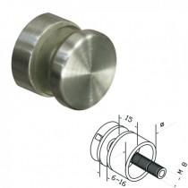 Punkthalter Ø 30 mm für Vierkantrohr Edelstahlfinish