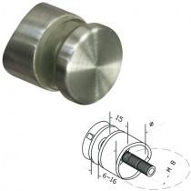 Punkthalter Ø 30 mm für Rundrohr Ø 42,4 mm Edelstahlfinish