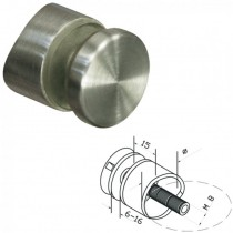 Punkthalter Ø 30 mm für Rundrohr Ø 42,4 mm Edelstahl V2A