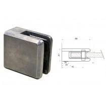 Glasklemme Modell 45 für Vierkantrohr Zinkdruckguß