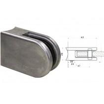 Glasklemme Modell 63 für Vierkantrohr Zinkdruckguß