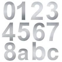 Hausnummer 10cm Edelstahl V2A