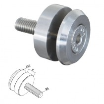 Punkthalter Ø 30 mm für Vierkantrohr Edelstahl V2A