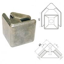 Glasklemme Modell 30 Eckverbinder Zinkdruckguß
