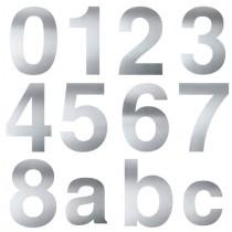 Hausnummer 16cm Edelstahl V2A
