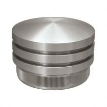 Rohrstopfen als Zierelement für Rundrohr Ø 33,7 x 2,0 Edelstahl V2A