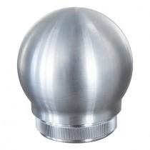 Zier-Rohrstopfen Kugelform massiv Edelstahl V2A