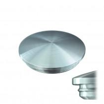 Rohrstopfen Linsenform zum Einkleben Edelstahl V2A