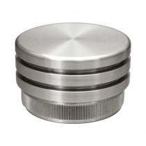 Zier - Rohrstopfen mit flacher Form Edelstahl V2A