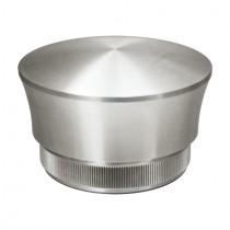 Zier - Rohrstopfen mit Linsenform Edelstahl V2A