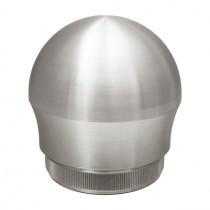 Zier - Rohrstopfen mit Kugelform Edelstahl V2A