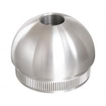 Rohrstopfen KugelForm mit Durchgangsbohrung Edelstahl V2A