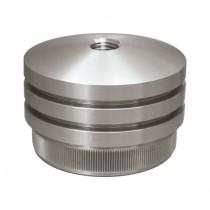 Zier - Rohrstopfen mit Linsenform mit Gewinde Edelstahl V2A