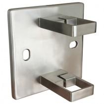 Geländerpfostenhalterung für Vierkantrohr Edelstahl V2A