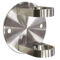Geländerpfostenhalterung für Rundrohr Edelstahl V2A (kleine Ausführung)