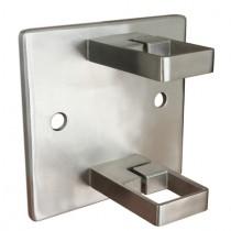 Geländerpfostenhalterung für Vierkantrohr (klein) Edelstahl V2A