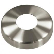Abdeckrosette mit Ø 105 mm, Mittelloch Ø 33,8 mm Edelstahl V2A
