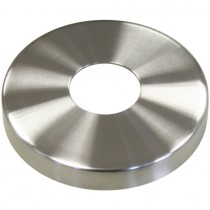 Abdeckrosette mit Ø 125 mm, Mittelloch Ø 48,5 mm Edelstahl V2A