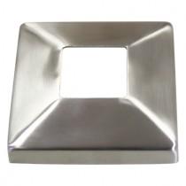 Abdeckrosette 125 x 125 mm, Mittelloch 40 x 40 mm Edelstahl V2A