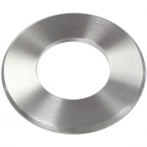 Abdeckrosette mit Ø 33 mm, Mittelloch Ø 12,3 mm Edelstahl V2A