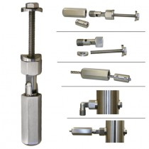 Drahtseilhalter für 4 mm Drahtseil und Rundrohr Ø 42,4 mm Edelstahl V2A