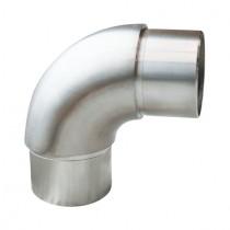 Steckfitting mit 90° Winkel, für Rohr Ø 48,3x2,0 mm Edelstahl V2A