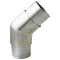 Steckfitting mit 135° Winkel, für Rohr Ø 42,4x2,6 mm Edelstahl V2A