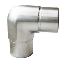 Steckfitting mit 90° Winkel, für Rohr Ø 33,7x2,0 mm  Edelstahl V2A