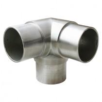 Eckfitting mit 90° Winkel, für Rohr Ø 42,4x2,6 mm Edelstahl V2A