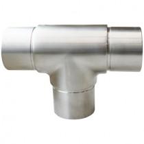 Steckfitting T-Stück, für Rohr Ø 33,7x2,0 mm Edelstahl V2A
