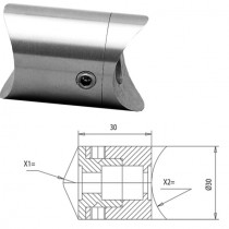 Rohradapter für Rundrohr Ø 42,4 / Ø 42,4 mm Edelstahl V2A