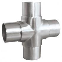 Kreuzverbinder für Rundrohr Ø 33,7x2,0 mm Edelstahl V2A