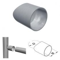 Adapter mit Rohranschluss Ø 48,3 und Aufnahme Ø 42,4 mm Edelstahl V2A