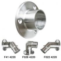Fittingadapter - Flansch zum kleben, für Fittinge Ø 42,4x2,0 mm Edelstahl V2A