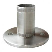 Einschlag - Bodenflansch, für Rohr Ø 33,7x2,0 mm Edelstahl V2A