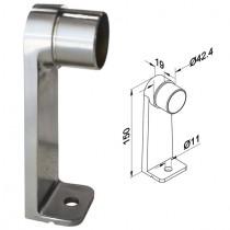 Abstandhalter einseitig für Rundrohr Ø 42,4x2,0 Edelstahl V2A