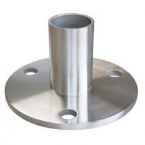 Bodenflansch zum kleben, für Rohr Ø 42,4x2,0 mm Edelstahl V2A