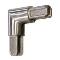 Rohrverbinder 90° für Einfassprofil Ø 18 mm Edelstahl V2A