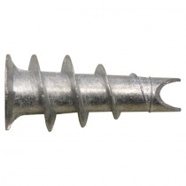 Gipskartondübel  aus Metall mit offener Bohrspitze