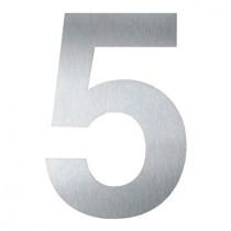 """HAUSNUMMER """"5"""" 16 CM GROSS AUS EDELSTAHL V2A"""